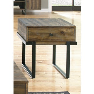 Paxton Wire Brushed Floating Design End Table