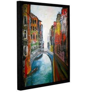 ArtWall 'Marcus/Martina Bleichner's Venice Grand Canal' Gallery Wrapped Floater-framed Canvas