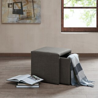 Madison Park Calvi Charcoal Grey Storage Accent Table