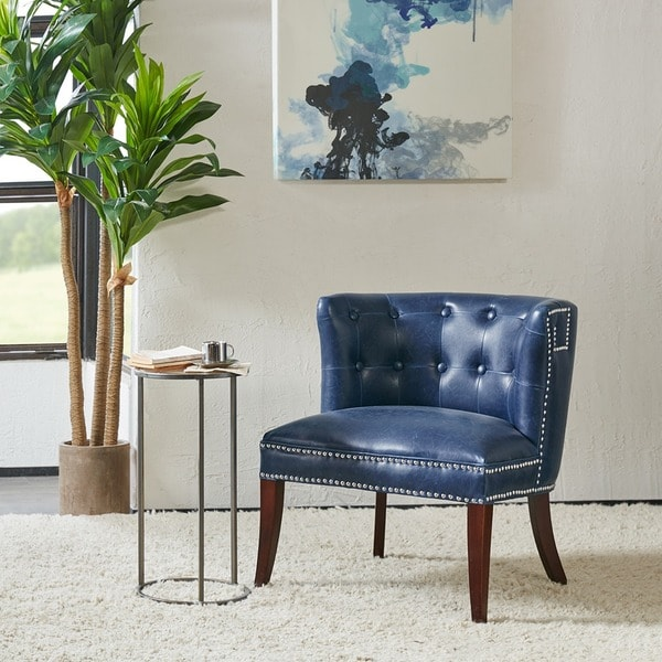 Shop Madison Park Marlee Navy Accent Chair On Sale