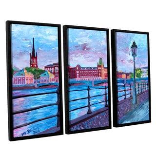 ArtWall 'Marcus/Martina Bleichner's Stockholm City View' 3-piece Floater Framed Canvas Set