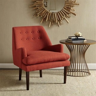 Link to Madison Park Elsa Spice Mid-Century Accent Chair Similar Items in Living Room Chairs