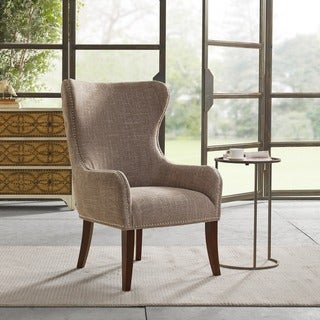 Madison Park Irvine Camel Button Tufted Back Accent Chair