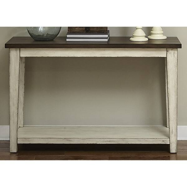 Outstanding The Gray Barn Oquinn Weathered Bark And White Sofa Table Machost Co Dining Chair Design Ideas Machostcouk