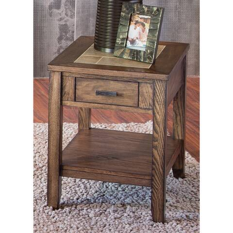 Mesa Valley Tobacco Ceramic Tile Top Chair Side Table