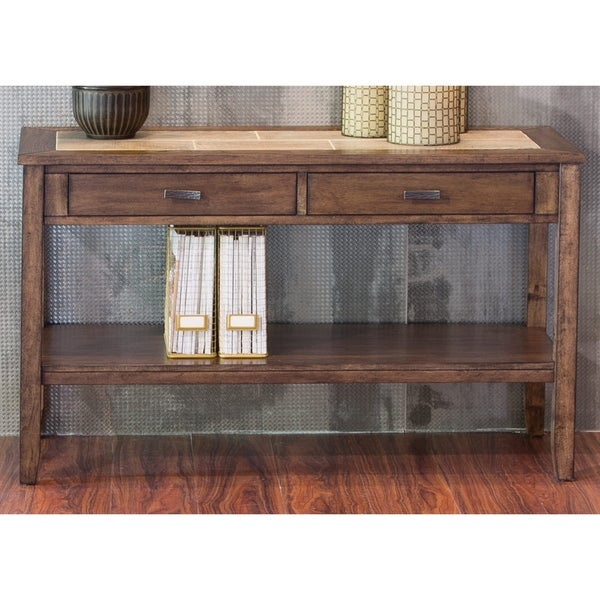 Mesa Valley Ceramic Tile Top Sofa Table On Free Shipping Today 11375292