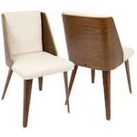Galanti Mid-Century Modern Faux Leather Dining/Accent Chair (Set of 2)