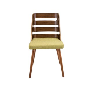 Trevi Mid Century Modern Walnut Wood Accent Chair
