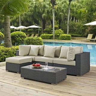 Stopover Outdoor Patio 5-piece Sectional Set