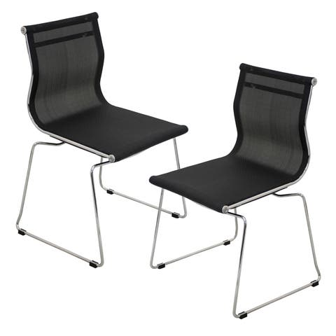 Mirage Contemporary Stackable Chair (Set of 2)