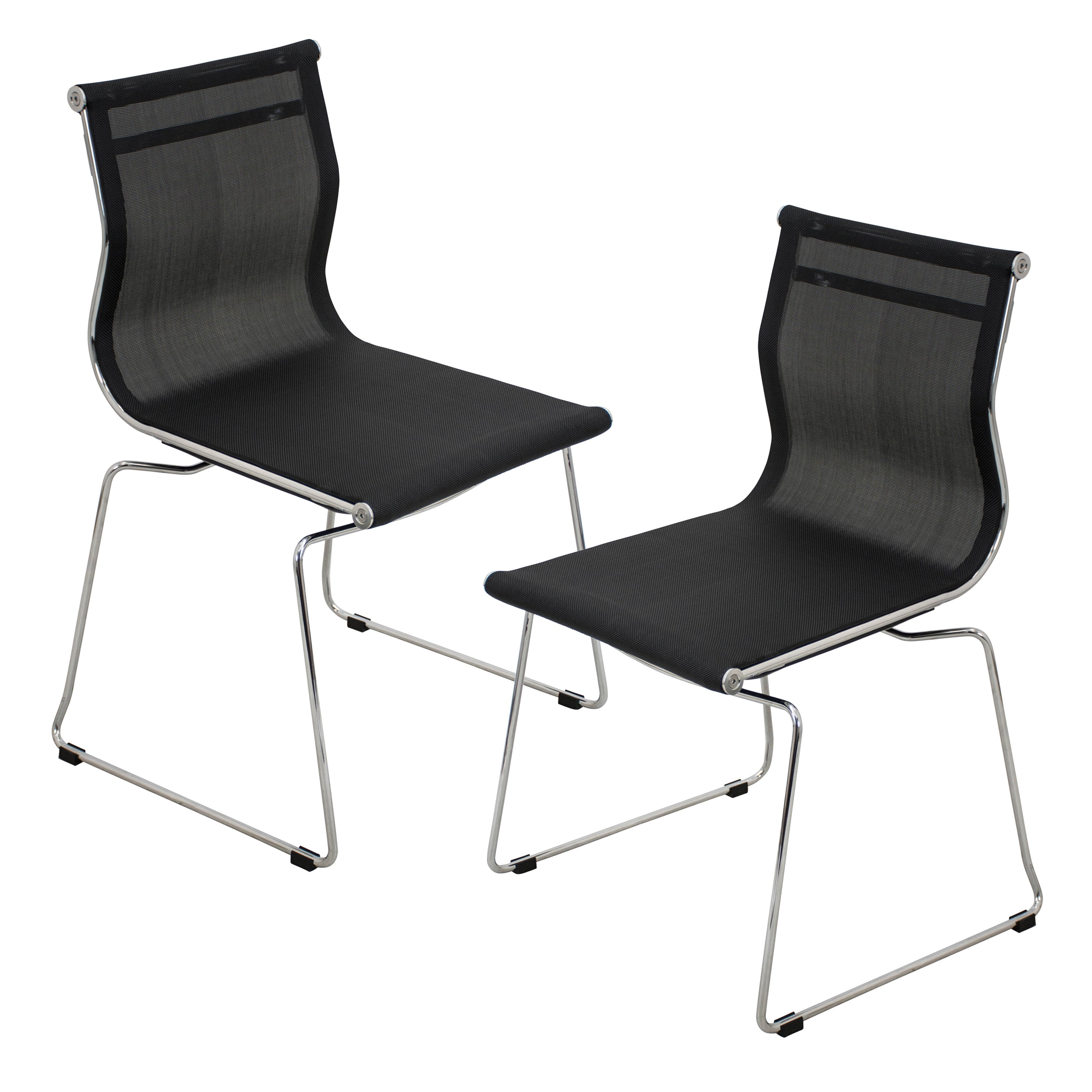 Mirage Contemporary Stackable Chair Set Of 2