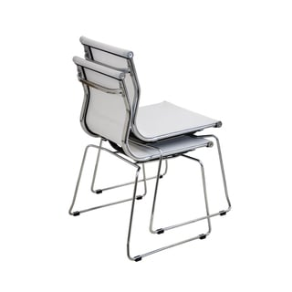 Pair of Mirage Contemporary Stackable Chairs