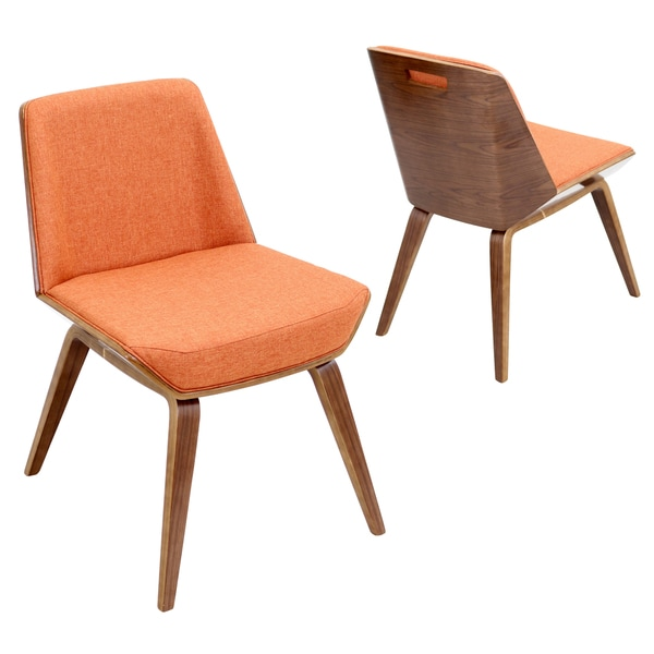 corazza mid century modern chair in walnut wood free shipping today