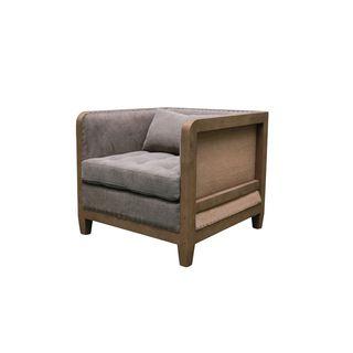 Aurelle Home Distressed Club Chair