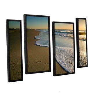 ArtWall 'Steve Ainsworth's Surf and Sand' 4-piece Floater Framed Canvas Staggered Set