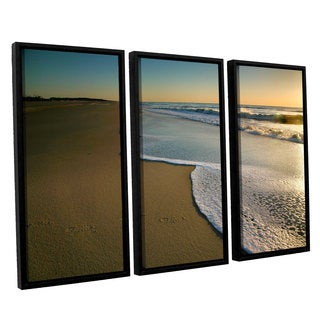 ArtWall 'Steve Ainsworth's Surf and Sand' 3-piece Floater Framed Canvas Set