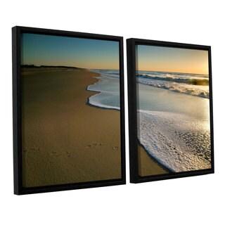 ArtWall 'Steve Ainsworth's Surf and Sand' 2-piece Floater Framed Canvas Set