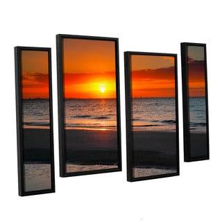 ArtWall 'Steve Ainsworth's Sunrise Over Sanibel' 4-piece Floater Framed Canvas Staggered Set