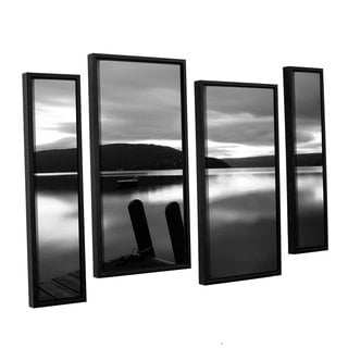 ArtWall 'Steve Ainsworth's Still Waters' 4-piece Floater Framed Canvas Staggered Set