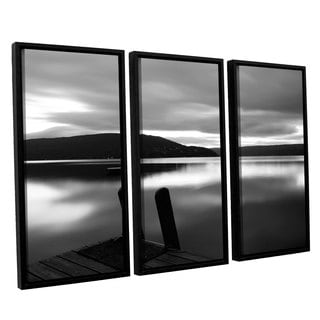 ArtWall 'Steve Ainsworth's Still Waters' 3-piece Floater Framed Canvas Set