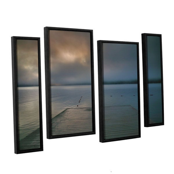 ArtWall 'Steve Ainsworth's Solitude I' 4-piece Floater Framed Canvas Staggered Set