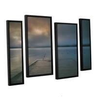 ArtWall 'Steve Ainsworth's Solitude I' 4-piece Floater Framed Canvas Staggered Set - Multi