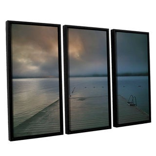 ArtWall 'Steve Ainsworth's Solitude I' 3-piece Floater Framed Canvas Set