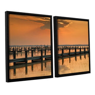 ArtWall 'Steve Ainsworth's Silver and Gold' 2-piece Floater Framed Canvas Set