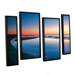 ArtWall 'Steve Ainsworth's Sea and Sand II' 4-piece Floater Framed Canvas Staggered Set