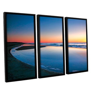 ArtWall 'Steve Ainsworth's Sea and Sand II' 3-piece Floater Framed Canvas Set