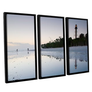ArtWall 'Steve Ainsworth's Sanibel Lighthouse' 3-piece Floater Framed Canvas Set