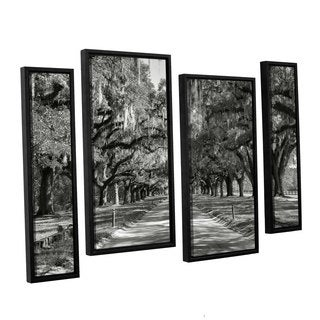 ArtWall 'Steve Ainsworth's Live oak Avenue II' 4-piece Floater Framed Canvas Staggered Set