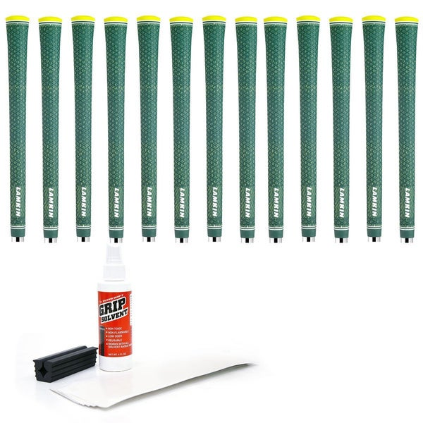 Lamkin Limited Edition UTx Green/Yellow Standard 13 piece Golf Grip Kit (with tape, solvent, vise clamp)