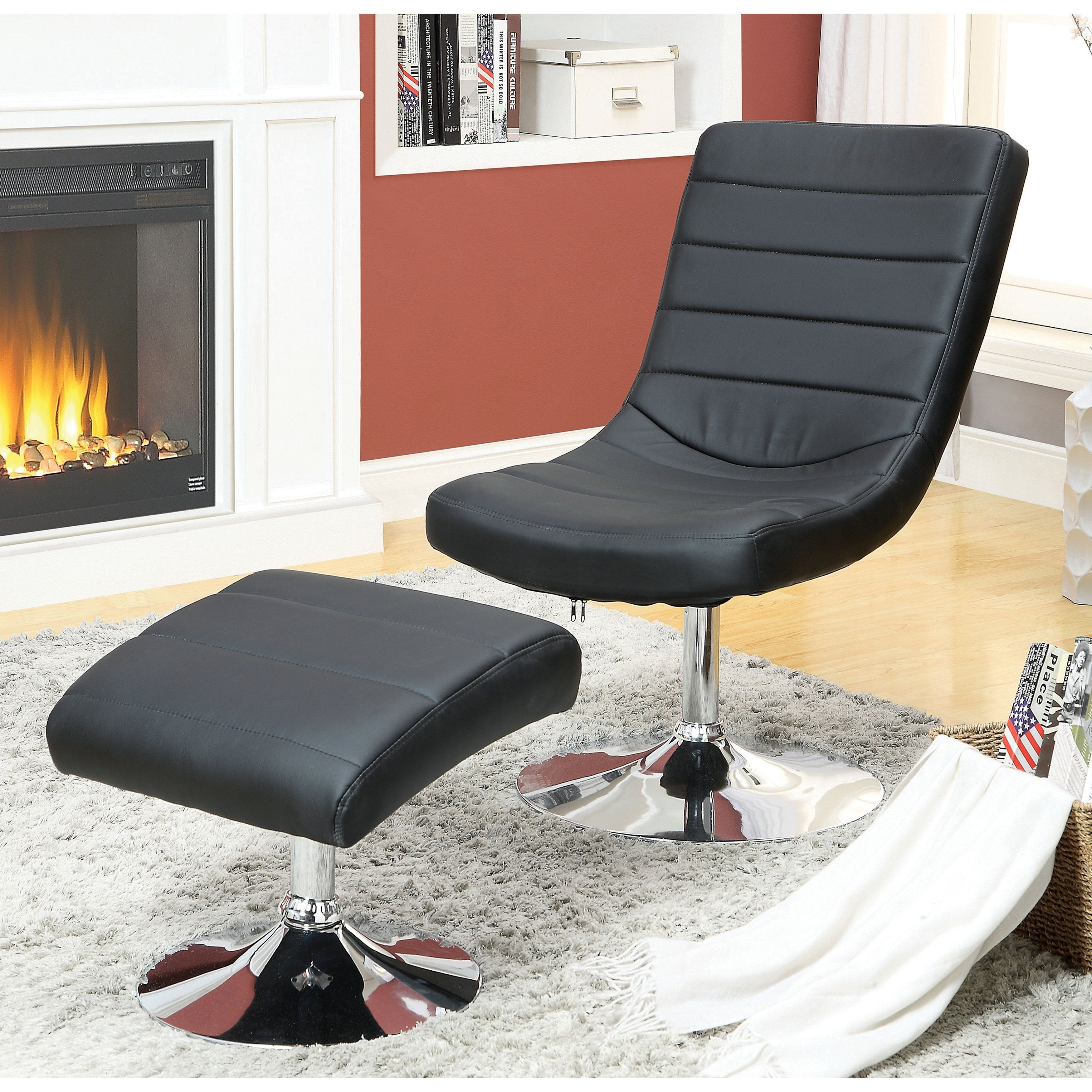 Excellent Tracelli Modern 2 Piece Chair And Ottoman Set By Foa Bralicious Painted Fabric Chair Ideas Braliciousco
