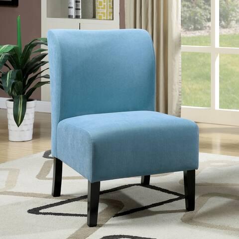Furniture of America Ily Modern Fabric Upholstered Slipper Chair