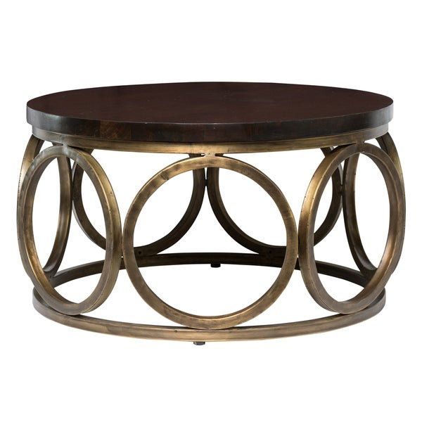 Kosas home gemma 32 round coffee table 18345034 for Coffee tables 18 inches wide