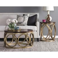 Gemma 32-inch Wood Round Coffee Table by Kosas Home