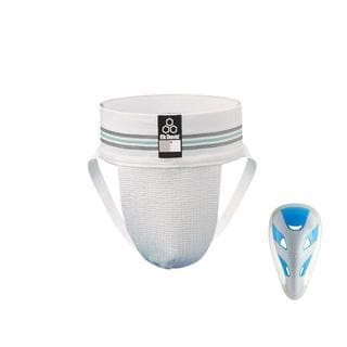 McDavid Classic 325JCF Athletic Supporter with Grey Cup White Junior Large