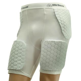 McDavid Classic 757DD Dual Density Hexpad Thudd Short White Medium