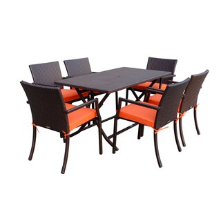 7-piece Cafe Resin Wicker Dining Set