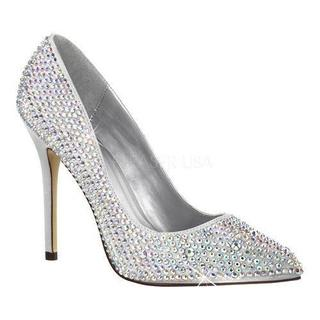 Women's Fabulicious Amuse 20RS Pump Silver Satin