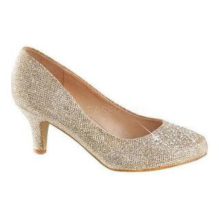 Women's Fabulicious Doris 06 Pump Nude Glitter Mesh Fabric (5 options available)