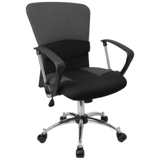 Yara Grey and Black Mesh Swivel Office Chair