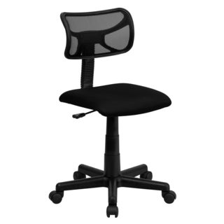 Glacis Black Armless Mesh Swivel Adjustable Office Chair