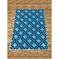 LYKE Home Lizzie Contemporary Blue Area Rug (8' x 11')