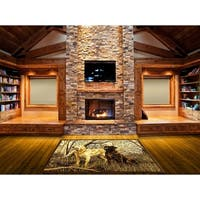 LYKE Home Rustic Natural Canine Area Rug (8' x 11')