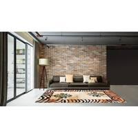 LYKE Home Contemporary Multicolor Area Rug - 5' x 7'