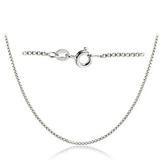 Mondevio High Polished 1.45mm Italian Box Chain Necklace in Lengths 16-30 Inches (More options available)