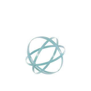 Urban Trends Collection Small Cyan Metal Orb Decor