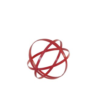Urban Trends Collection Small Red Metal Orb Decor